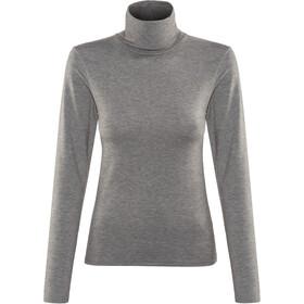 Craft Essential Warm Turtleneck Shirt Dame dk grey melange